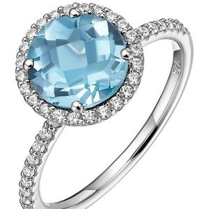 🎁NWT: Sterling & Topaz Oval Shaped Ring